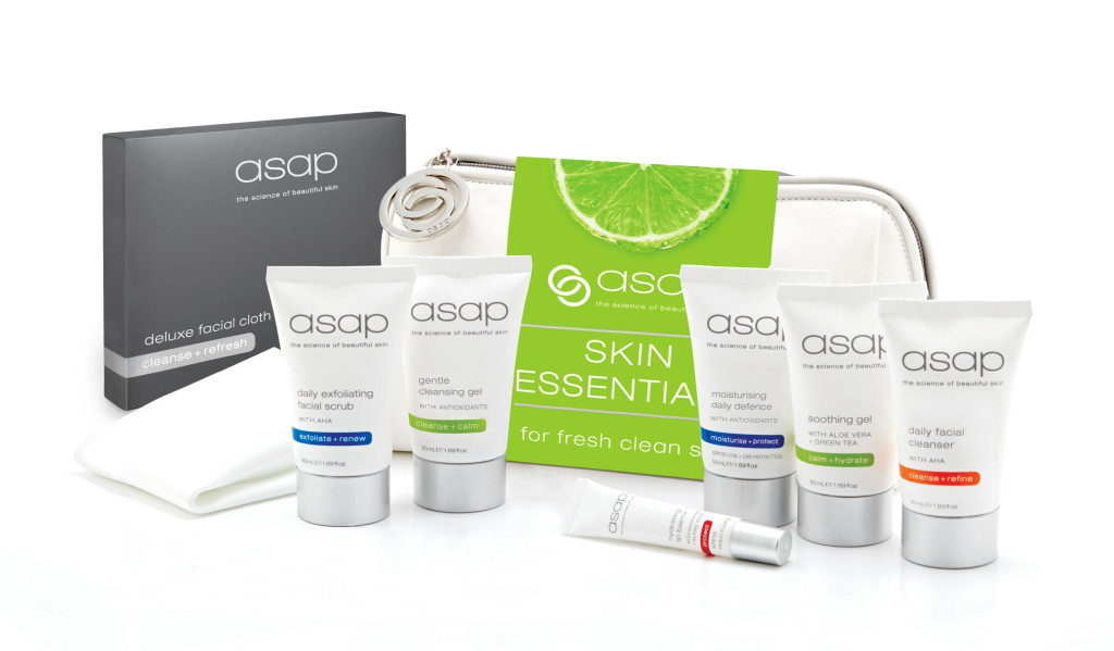 asap skin essentials pack and products